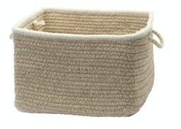 Natural Style Square Basket Large Muslin