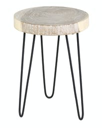 Natura Freeform Side Table- Small White Wash