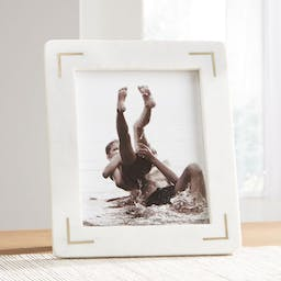 """8""""x10"""" White Marble Picture Frame"""
