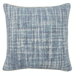 Aubree Woven Square Throw Pillow Blue
