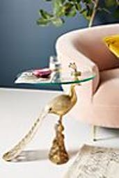 Pavo Side Table, Gold