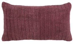 Oliver Hand Knitted Rectangular Pillow Red