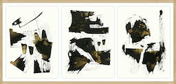 """can you see them?, 51""""X24"""", Glass Framed Gilded Gold Wall Art"""