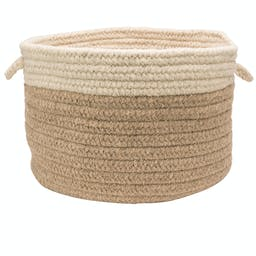 Chunky Natural Wool Dipped Basket Small Beige/Natural