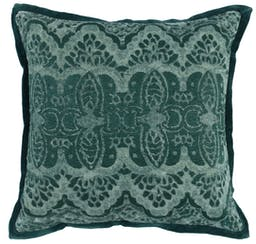 """Norris Embroidered 18"""" Throw Pillow Emerald"""