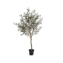 Potted Faux Olive Tree 7'