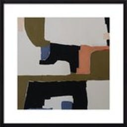 """Lume by Holly Addi, 24"""" X 24"""", Contemporary - Black Wood Frame, With Matte"""