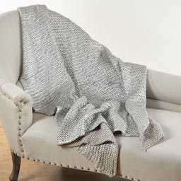 Knitted Design Throw