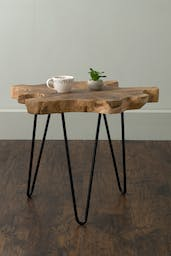Natura Live Edge Side Table - Large Brown