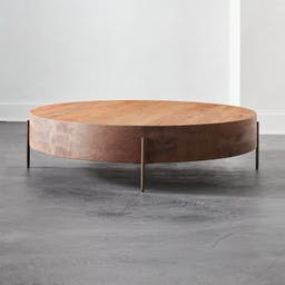 Proctor Low Round Wood Coffee Table