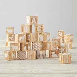Etched Wooden Baby Blocks
