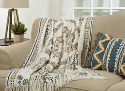 Printed and Embellished Throw Multi