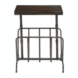 Sonora Industrial Magazine Side Table Bronze