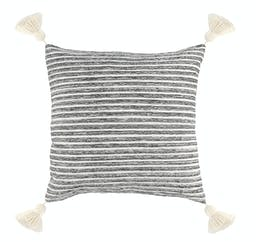 Conway Square Pillow Black/Ivory