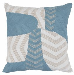 Bayla Embroidered Square Pillow Blue