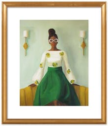"""Puff Sleeves by Janet Hill, 20"""" X 24"""", Ornate - Gold Leaf Wood Frame, With Matte"""