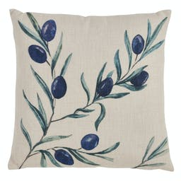 Olive Branch Pillow - Poly Filled