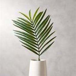 Faux Palm Leaf with Vase White