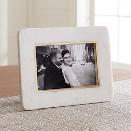 """5""""x7"""" White Marble Picture Frame"""