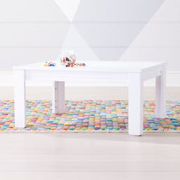 """Small White Adjustable Kids Table w/ 15"""" Legs"""