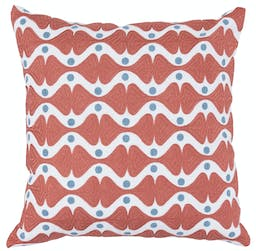 Madeline Embroidered Square Pillow   Orange