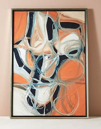 Intersecting Thoughts Wall Art, Orange Motif, Large