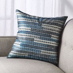 """Minorca Silk Pillow with Feather-Down Insert 18"""""""