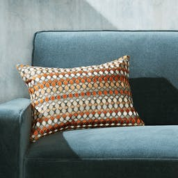 """Lyric Silk Pillow with Feather-Down Insert 18""""x12"""""""