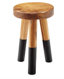 Dip-Dyed Stools, Small, Black