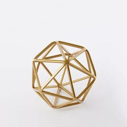 Symmetry Object, Small Octahedron, Gold