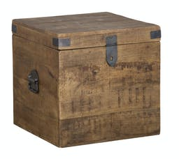 Zakery 18 inch Square Trunk Brown