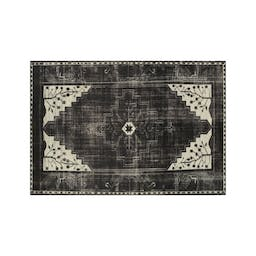Anice Black Hand Knotted Oriental-Style Rug 9'x12'