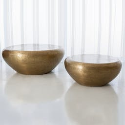 Goa Cocktail Table-Lg Brass