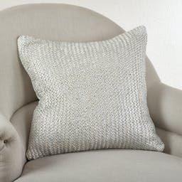 Knitted Design Pillow - Down Filled