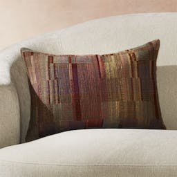 """Marcel Hand Woven Pillow with Feather-Down Insert 22""""x15"""""""