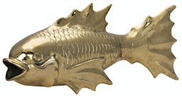 Fish On Stand Brass