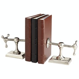 Hot & Cold Bookends Silver-Grey-Smoke