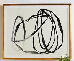 Motion Lines 3 Wall Art, Gold, One Size