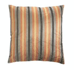 Striped Square Polyester Blend Pillow Multicolor