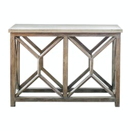 Catali Stone Console Table Ivory