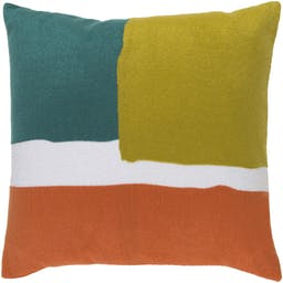 """Holden Square 18"""" Pillow, Teal Multi"""