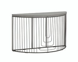 Coil Console Table, grey