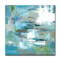 Tranquil Colors Canvas by Dana McMillan, 40 x 40 Blue