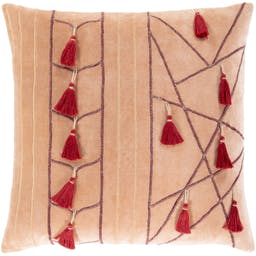 Tasseled Pillow Coral