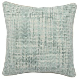 Umber Square Pillow  Green, Ivory