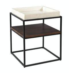 Removable Marble Tray Side Table