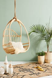 Woven Hanging Chair, Neutral, One Size