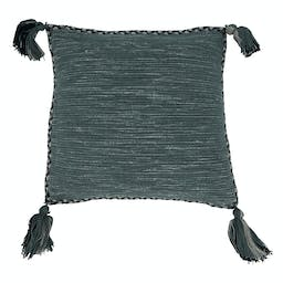 Braided Border Tassel Throw Pillow With Poly Filling