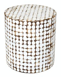 Juliette Coco End Table White Washed
