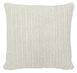 Marcie Knitted Throw Pillow, Ivory